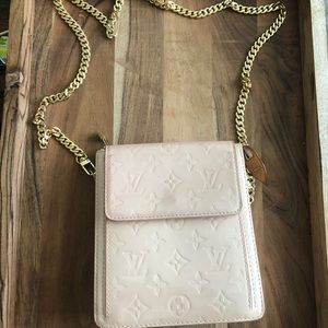 Louis Vuitton Baby Pink Vernis Mott Marley Bag